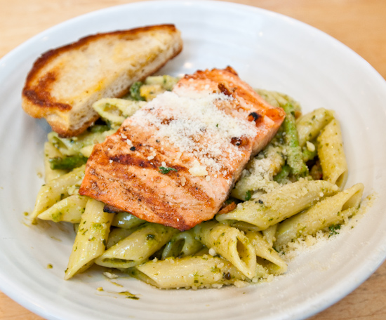 Central Market Cafe - Basil Pesto Penne with Salmon