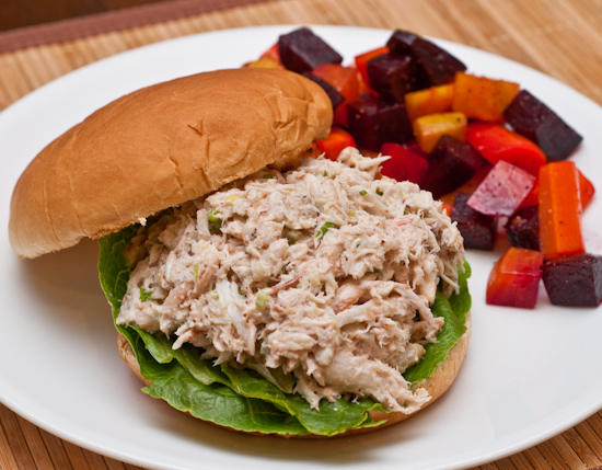 Crab Salad Sandwich and Beet & Carrot Salad