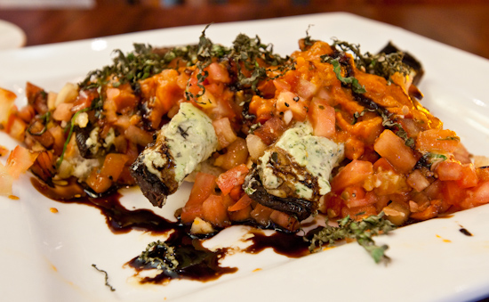 McCormick & Schmick's - Portabella Mushroom Bruschetta with Herbed Goat Cheese Stuffing