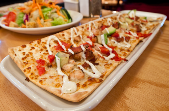 BJ's Brewhouse - California Club Flatbread Appetizer Pizza