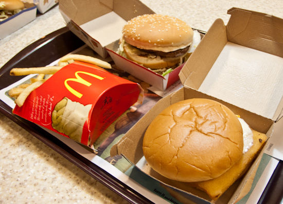 McDonald's - Big Mac, Filet-o-Fish, and French Fries