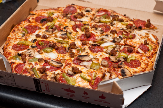 Domino's Pizza - Crunchy Thin Deluxe Feast Pizza