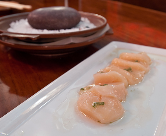 Uchi - scallop hot rock