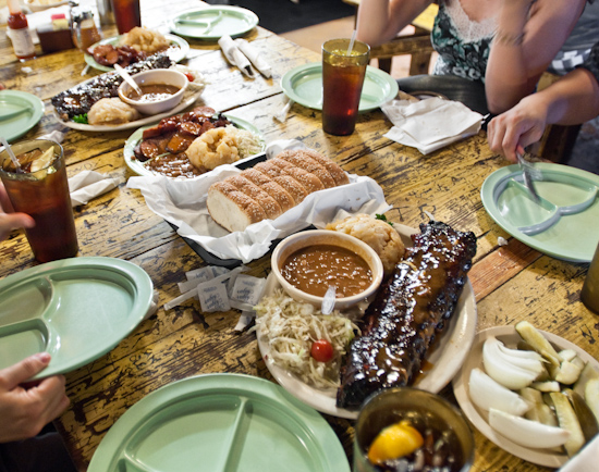 The Salt Lick - Baby Back Ribs, Moist Brisket, and Sausage