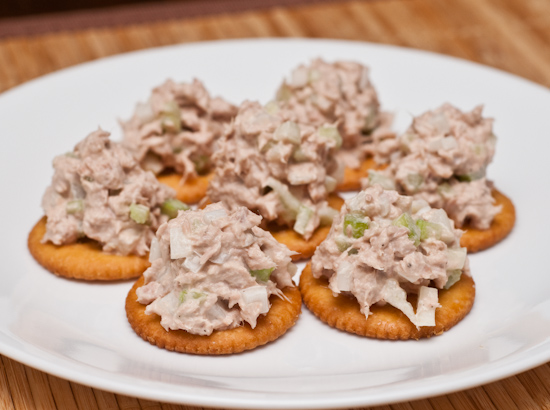 Tuna Fish Salad on Ritz Crackers
