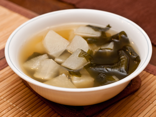 Daikon and seaweed soup