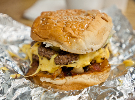 Five Guys Burger and Fries - Bacon Cheeseburger
