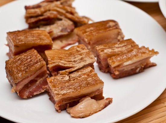 Overcooked sous vide bacon