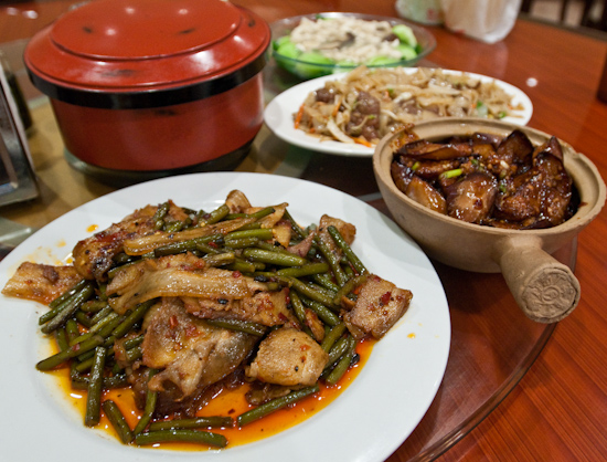 Asia Cafe - Twice Cooked Pork, Eggplant with Pork