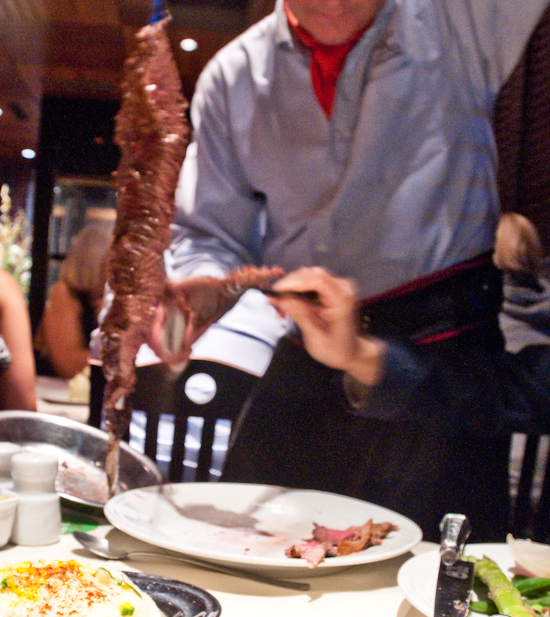 Fogo de Chao - Gaucho slicing meat