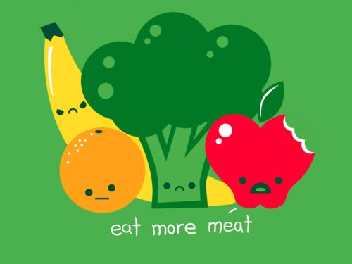 Eat More Meat T-Shirt Design
