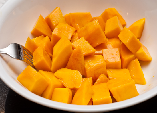 Cut up mango