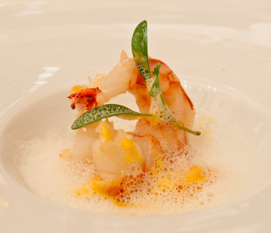 Le Bernardin - Canape of Butter Poached Shrimp
