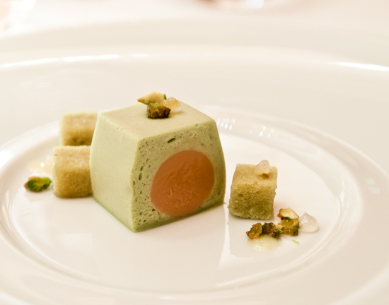 Le Bernardin - Roasted White Chocolate Pistachia Mousse