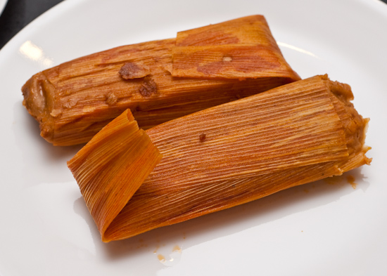 Microwaved Pork Tamales