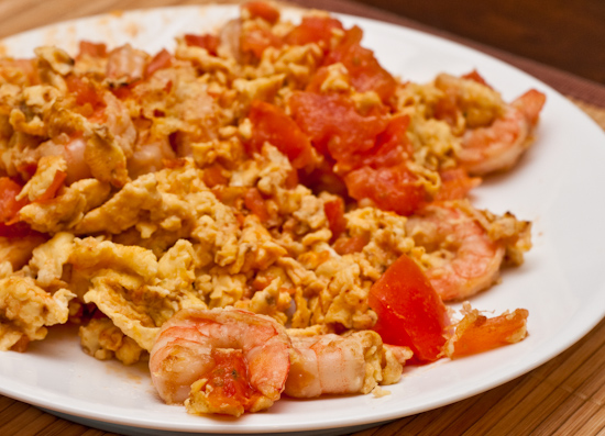 Egg, Tomato, and Shrimp
