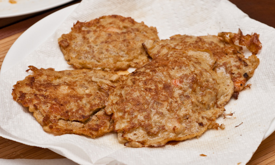 Egg and pork patties