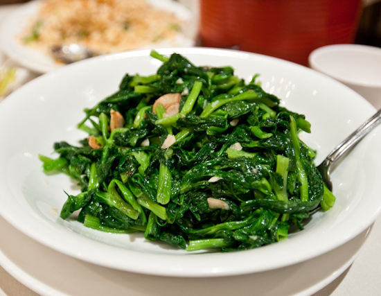 Fortune Seafood Chinese Restaurant - Snow Pea Leaves with Garlic