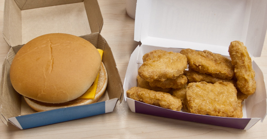 McDonald's - Filet-o-Fish and ten Chicken McNuggets