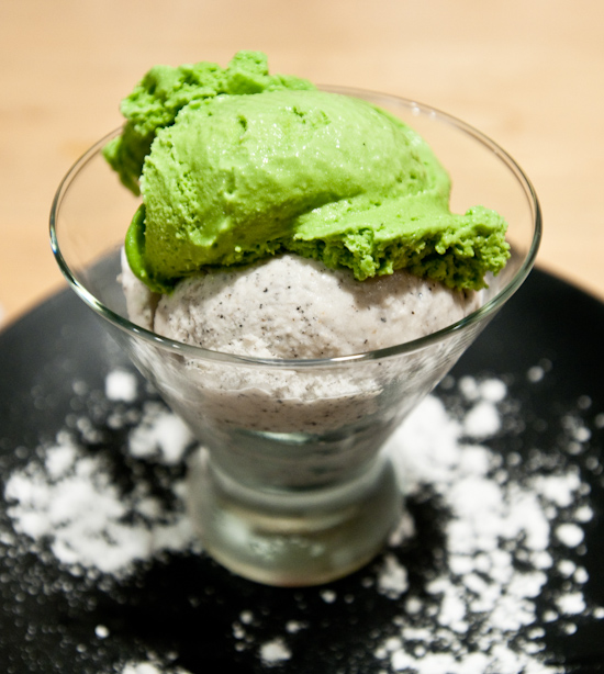 Sushi Zushi - Black Sesame and Green Tea Ice Cream