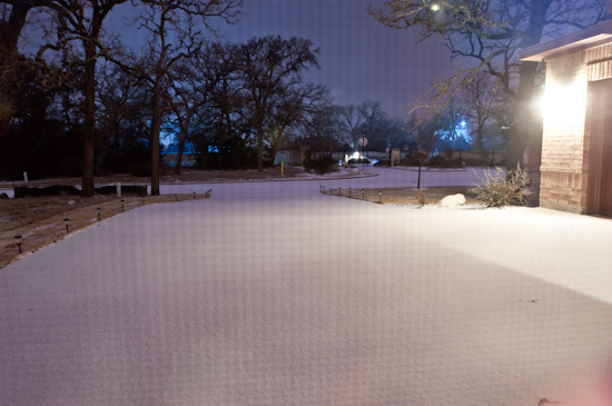Snow on Driveway at 3:00am