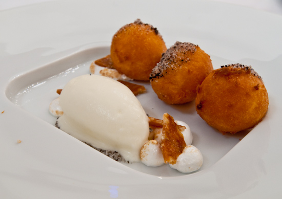 Congress - Sweet potato beignets (topped with sugar and black pepper ...