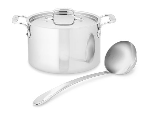 All-Clad Tri-Ply Stainless-Steel Soup Pot 4-Qt.