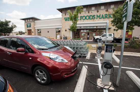 Electric Car Charger in Front of Whole Foods Market - Arbor Trails
