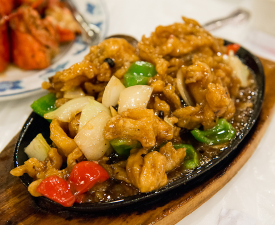 Sizzling Chicken with Black Bean Sauce