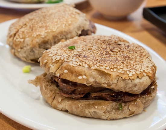 Beef with Sesame Pan Cake