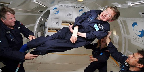 Stephen Hawking in zero-g
