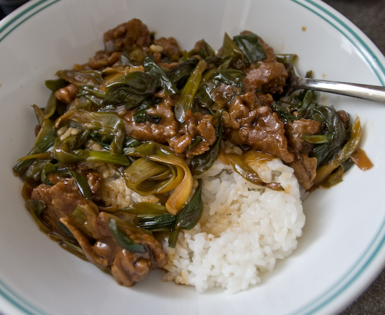 Leftover Mongolian Beef