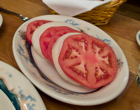Peter Luger Steakhouse - Tomatoes and Onion