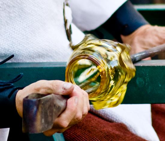 Shaping Blown Glass