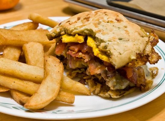 Leftover burger