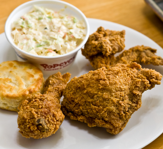Popeye's Chicken - 3 piece chicken dinner