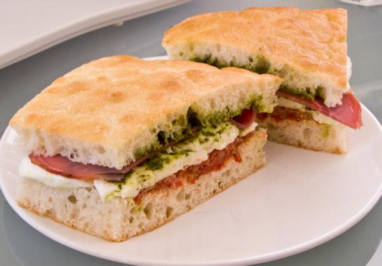 Caffe Centro - Caprese Sandwich with Prosciutto