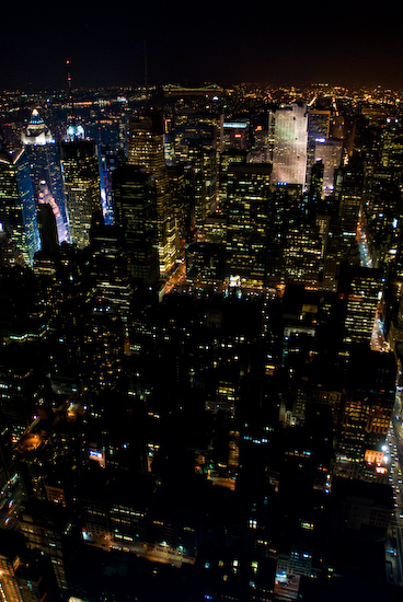 Manhattan at Night from the Empire State Building
