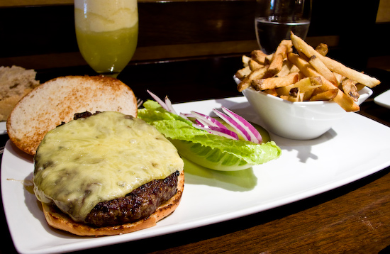 Parcel 104 - Harris Ranch All Natural Chuck Burger with Aged Cheddar and Fries