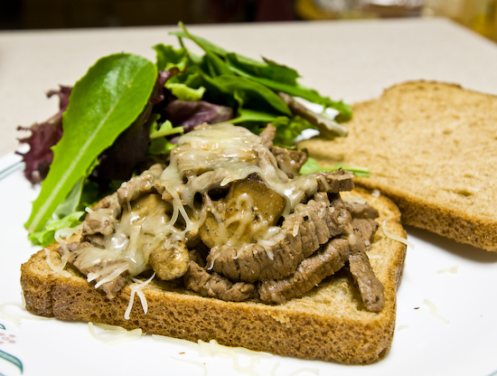 Steak and Mushroom Sandwich