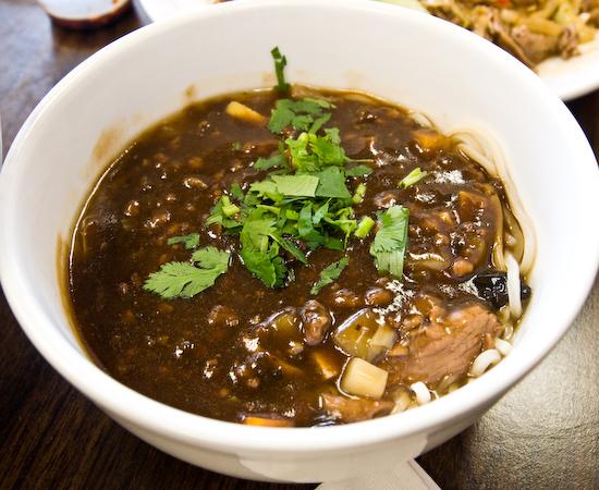 Chen's Noodle House: Combination Noodle Soup mixed with Noodles with Black Bean Sauce
