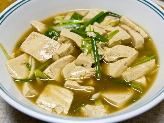 Silken tofu in oyster sauce