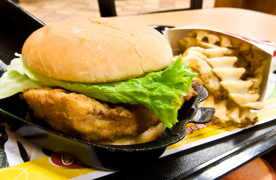 Chick-Fil-A - Deluxe Chicken Sandwich with Waffle Fries