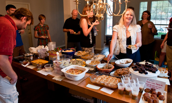 Austin Food Blogger's Potluck - Hatch chile dishes abound