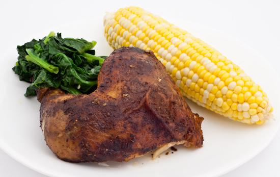 Rotisserie Chicken, Corn, Spinach