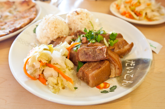 Coco's Cafe - Pork Belly with Rice and Pickled Vegetables
