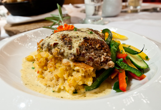 Hudson's on the Bend - Snapper in a pecan crust