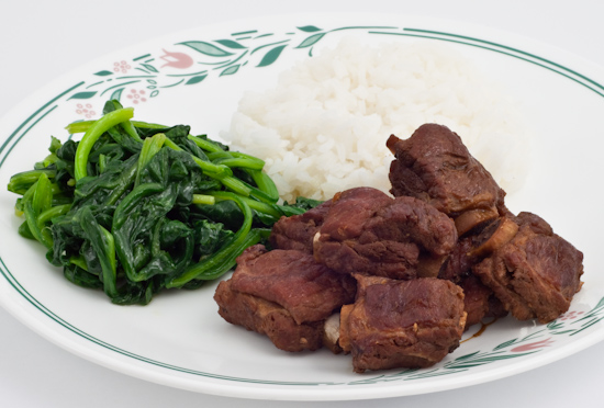 lu rou with spinach