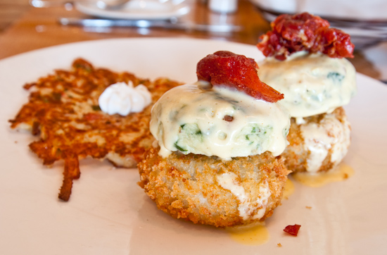 South Congress Cafe - Eggs Benedict with Crab Cakes