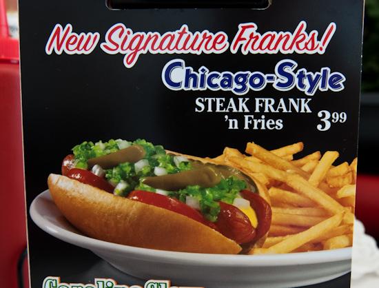 Steak 'n Shake - Chicago Style Steak Frank Menu Picture